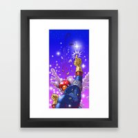 Falcon Punching Small Boys Since 1999 Framed Art Print
