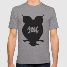 HootHoot Mens Fitted Tee Athletic Grey SMALL