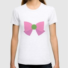 Sailor Jupiter Bow Womens Fitted Tee Ash Grey SMALL