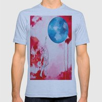 Woman Reaching (Dark) Mens Fitted Tee Athletic Blue SMALL