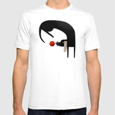 EYE ON THE BALL SMALL White Mens Fitted Tee