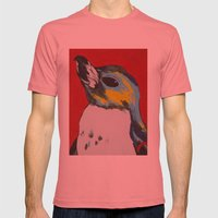 Penguin Mens Fitted Tee Pomegranate SMALL