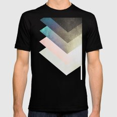 Geometric Layers SMALL Mens Fitted Tee Black