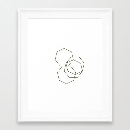 #313 Stone shadows – Geometry Daily Framed Art Print