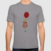 En röd ballong Mens Fitted Tee Athletic Grey SMALL