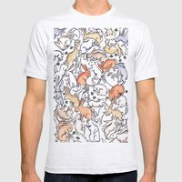 Colour Bunny Pattern Mens Fitted Tee Ash Grey SMALL