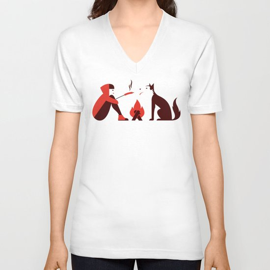 Little Red and Big Bad V-neck T-shirt