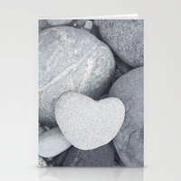 Heart Shaped Rock Stationery Cards