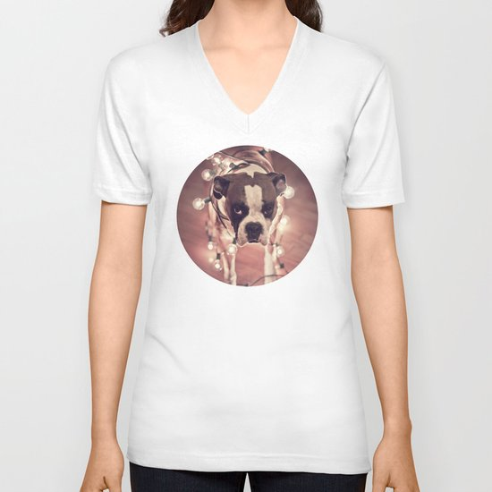 Will work for treats V-neck T-shirt