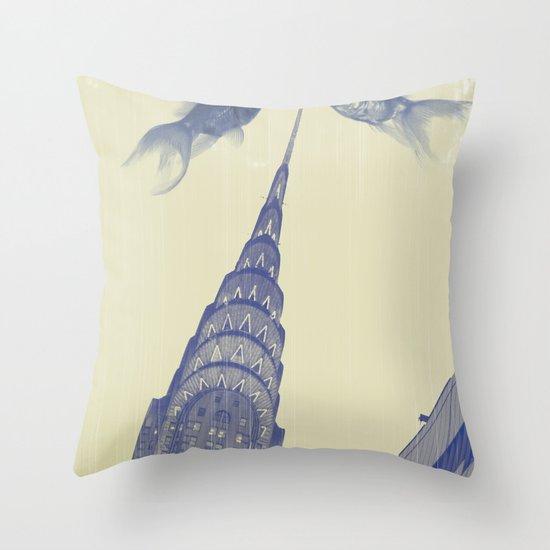 chrysler gold fish Throw Pillow
