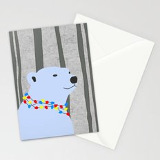Holiday Season Polar Bear Stationery Cards
