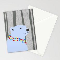 Holiday Season Polar Bear Stationery Cards