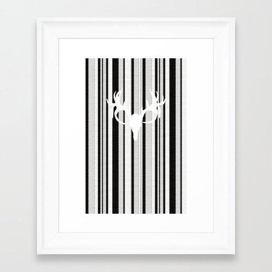 Going Stag Framed Art Print