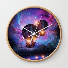 Space trip. Wall Clock