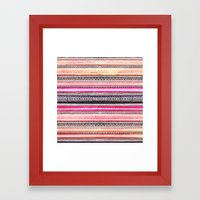 Bright Pink Orange Water… Framed Art Print