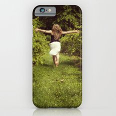 Young woman running through a vineyard iPhone 6s Slim Case