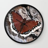Cloak of Mourning Butterfly Wall Clock