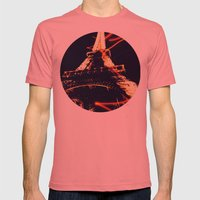 the Eiffel Tower Mens Fitted Tee Pomegranate SMALL