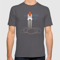 Launch! Mens Fitted Tee Asphalt SMALL