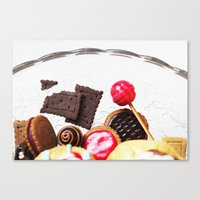 Candies And Cookies Canvas Print