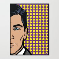 Canvas Print featuring Sterling Archer Of ISIS.… by Jon Hernandez