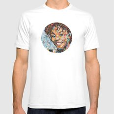 African woman SMALL White Mens Fitted Tee