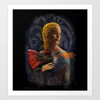 La Dame Au Dragon Art Print