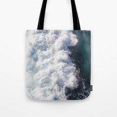 sea - midnight blue wave Tote Bag