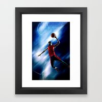Olympic game basket Framed Art Print