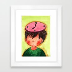 The Clock On My Head Framed Art Print