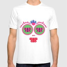 Indian face Mens Fitted Tee SMALL White