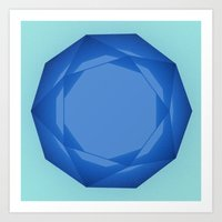 Blue Gem Art Print