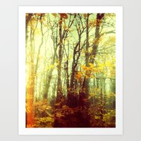 Woodland Abstract Art Print