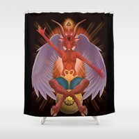 The Baphomet Shower Curtain
