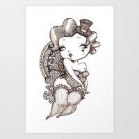 Chubby Burlesque Art Print