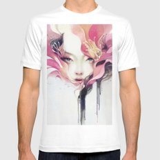 Bauhinia Mens Fitted Tee White SMALL