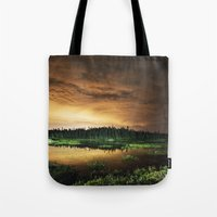 Light Polluted Lake Tote Bag
