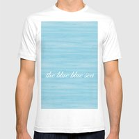 The Blue Blue Sea Mens Fitted Tee White SMALL