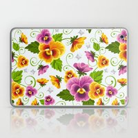 Floral & Butterfly Patte… Laptop & iPad Skin