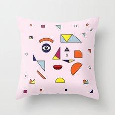 Face Modern (no.2) Throw Pillow