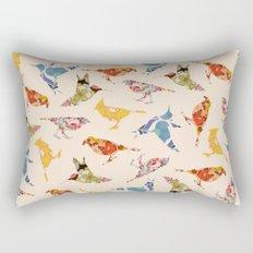 Vintage Wallpaper Birds Rectangular Pillow