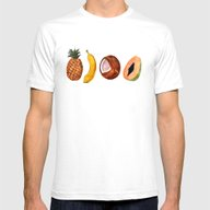 Exotic Fruits Mens Fitted Tee White SMALL