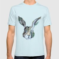 Hare Sketch #1 Mens Fitted Tee Light Blue SMALL