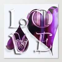 Two Hearts II Canvas Print