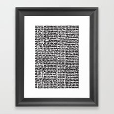 My style is better than yours punition Framed Art Print