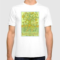 Treedum Mens Fitted Tee White SMALL