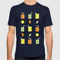 Juice Pattern  Mens Fitted Tee Navy SMALL