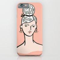 fille portant cheveux iPhone 6 Slim Case