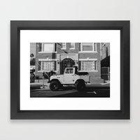 On The Street Framed Art Print
