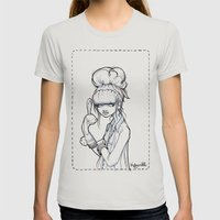 The Puppet Master Womens Fitted Tee Silver SMALL